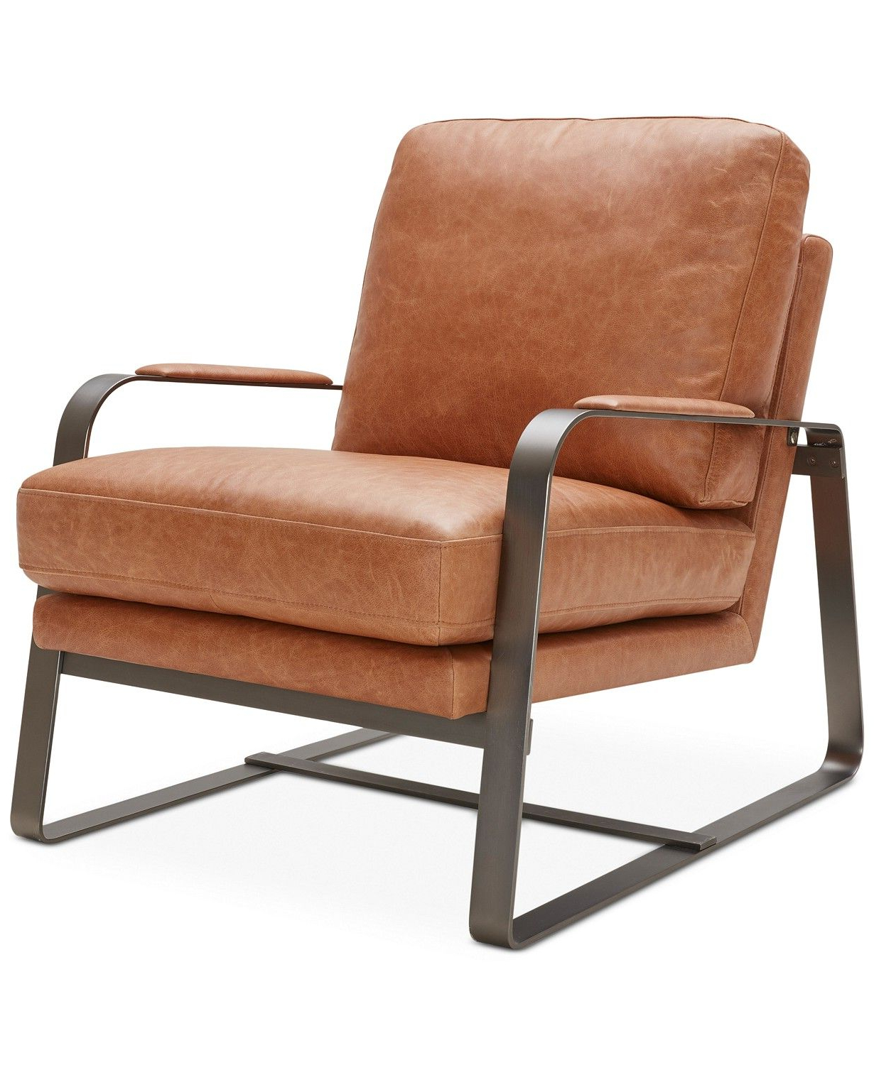 Famous Furniture Jollene Leather Accent Chair & Reviews – Chairs Throughout Riley Retro Mid Century Modern Fabric Upholstered Left Facing Chaise Sectional Sofas (View 6 of 20)