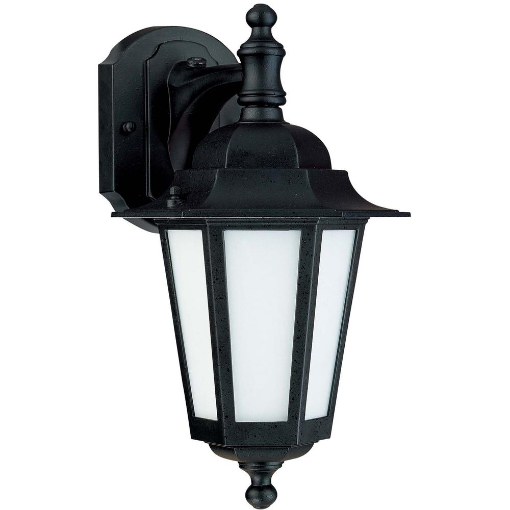 Famous Green Matters 1 Light Textured Black Outdoor Cfl Wall In Merild Textured Black Wall Lanterns (View 11 of 20)