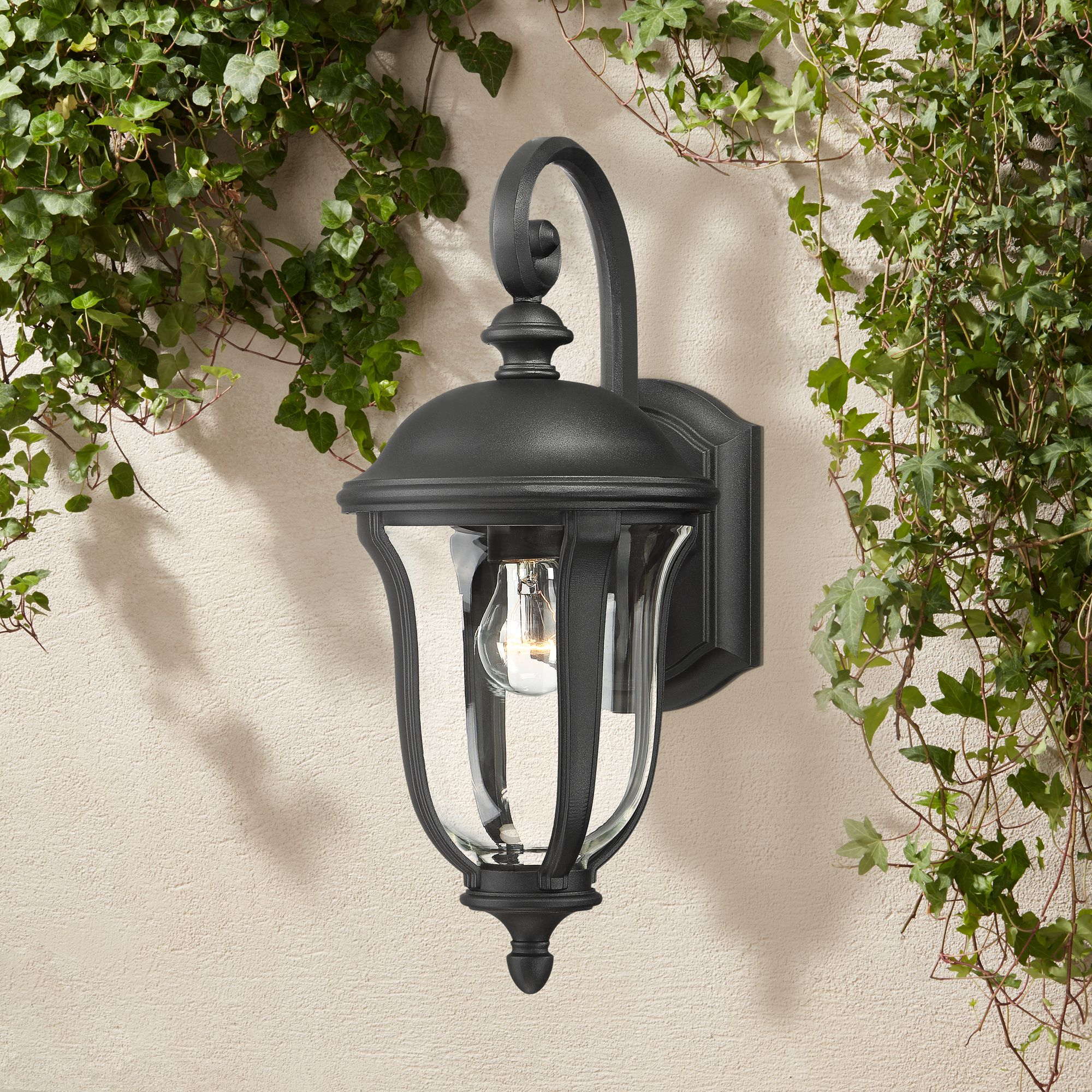 Famous John Timberland Traditional Outdoor Wall Light Fixture Pertaining To Socorro Black Outdoor Wall Lanterns (View 2 of 20)