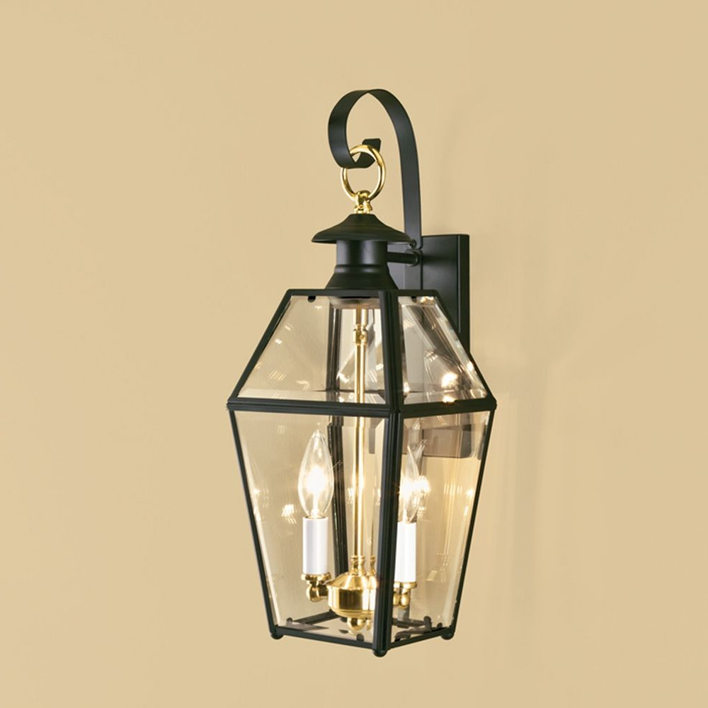 Famous Norwell Lighting Olde Colony Black Outdoor Wall Light With Regard To Nayen Black Wall Lanterns (View 6 of 20)