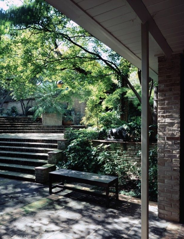 Famous Oneal Outdoor Barn Lights In Architect O'neil Ford Designed Home In Preston Hollow (View 15 of 20)