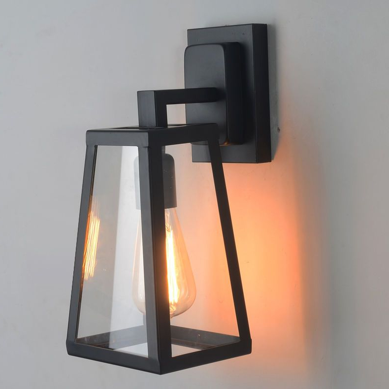 Famous Rickey Matte Antique Black Wall Lanterns Intended For Antique Matte Glass Black Lantern Outdoor Wall Sconce (View 10 of 20)
