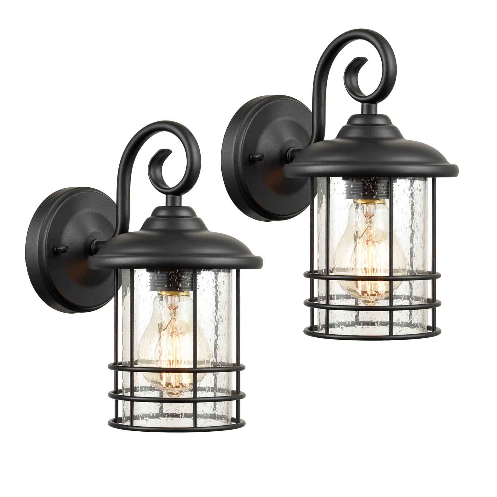 Famous Robertson 2 – Bulb Seeded Glass Outdoor Wall Lanterns Intended For Industrial Outdoor/indoor Lantern Wall Sconces Clear (View 2 of 20)