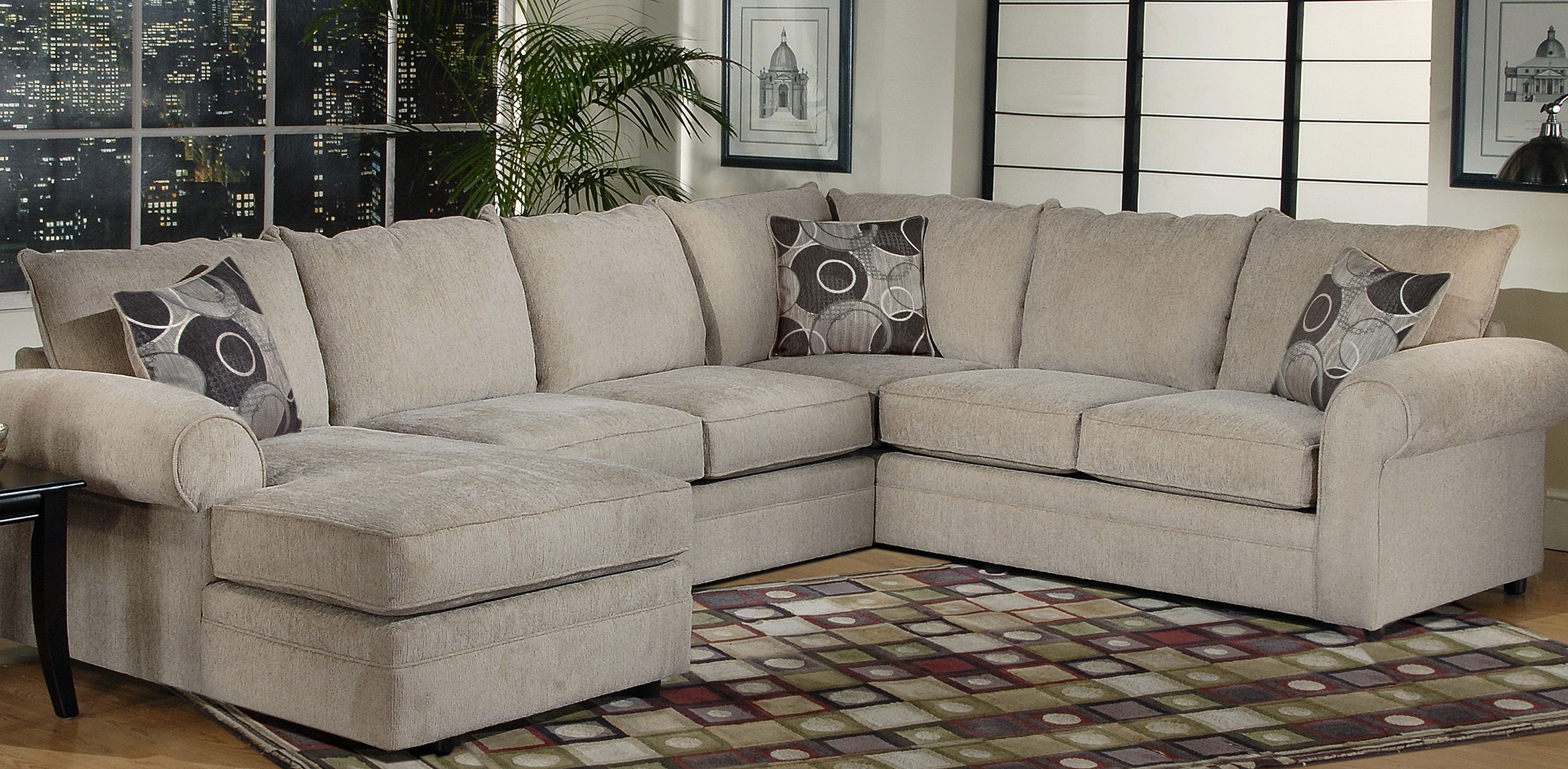 Famous Serta Upholstery Sectionals: Ashas Spiritual Essence With Harmon Roll Arm Sectional Sofas (View 1 of 20)