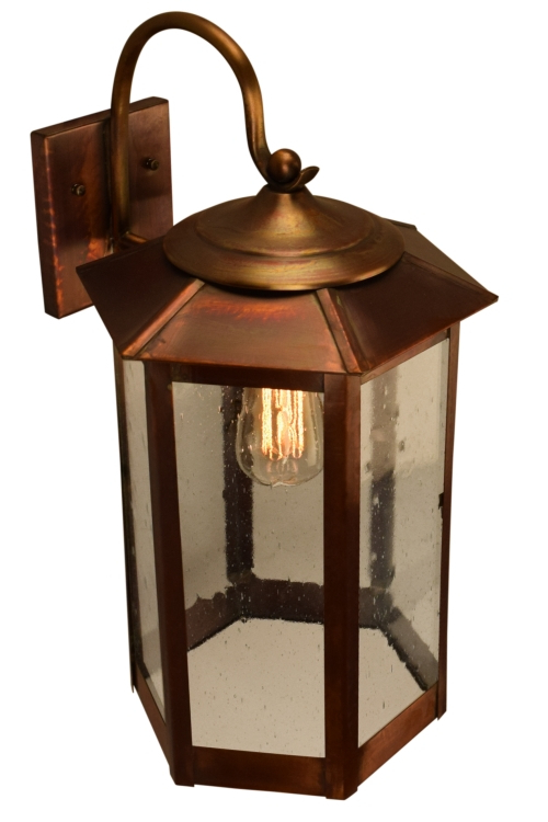 Famous Tilley Olde Bronze Water Glass Outdoor Wall Lanterns Regarding Baja Mission Style Outdoor Wall Light With Bracket Copper (View 4 of 20)