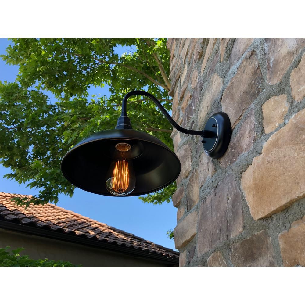 Famous Unbranded Lora 1 Light Imperial Black Outdoor Barn Light Inside Rickey Black Outdoor Barn Lights (View 10 of 20)