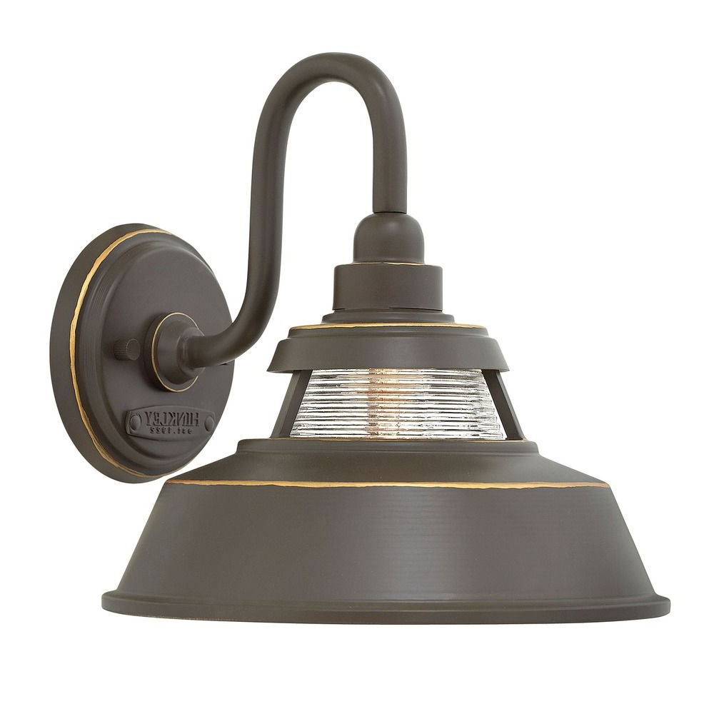Farmhouse Barn Light Outdoor Wall Light Bronzehinkley Inside Famous Brierly Oil Rubbed Bronze/black Outdoor Wall Lanterns (View 20 of 20)