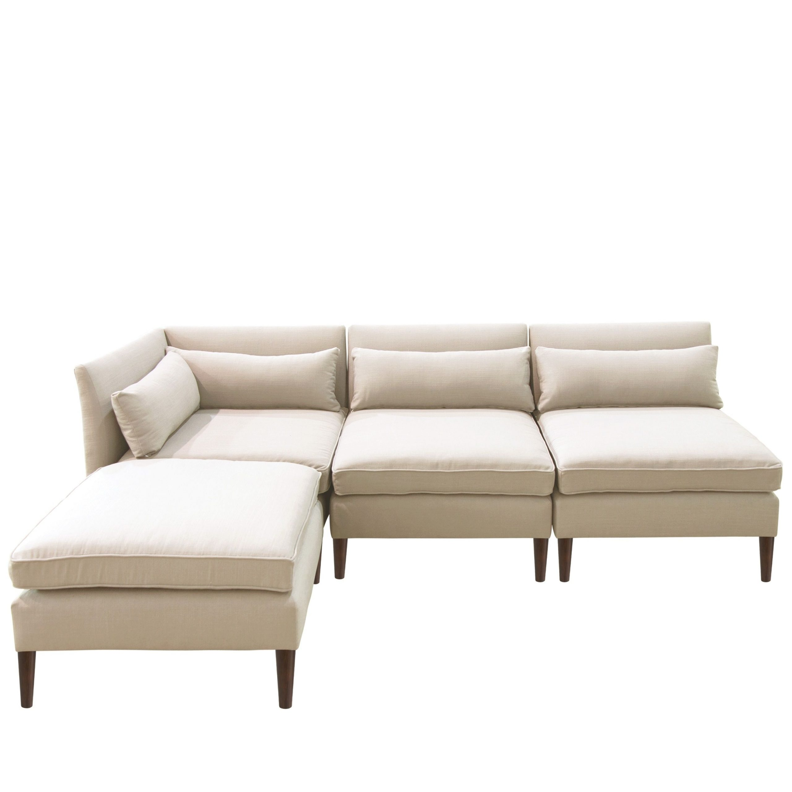 Fashionable 4pc Alexis Sectional Sofas With Silver Metal Y Legs With Regard To Online Shopping – Bedding, Furniture, Electronics, Jewelry (View 6 of 20)