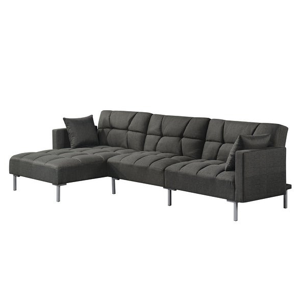 Fashionable Acme Duzzy Reversible Adjustable Sectional Sofa With 2 Intended For Clifton Reversible Sectional Sofas With Pillows (View 1 of 20)