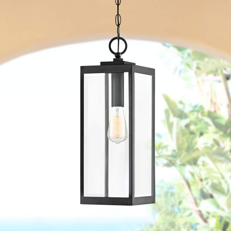 """Fashionable Ainsworth Earth Black Outdoor Wall Lanterns With Quoizel Westover 20 3/4""""h Earth Black Outdoor Hanging (View 19 of 20)"""