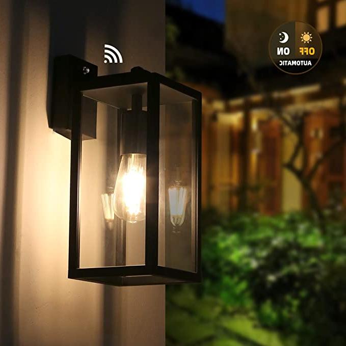 Fashionable Amazon: Outdoor Dusk To Dawn Wall Light, Brimmel With Regard To Ballina Matte Black Outdoor Wall Lanterns With Dusk To Dawn (View 20 of 20)