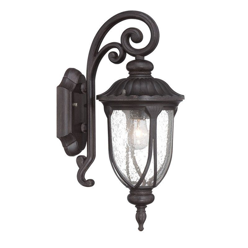 Fashionable Angie Seeded Glass Outdoor Wall Lantern (View 16 of 20)