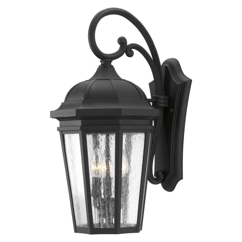 Featured Photo of Anner Seeded Glass Outdoor Wall Lanterns