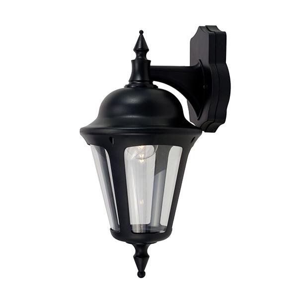 Fashionable Armanno Matte Black Wall Lanterns Pertaining To Ansell Latina 42w E27 Wall Lantern Black At Uk Electrical (View 12 of 20)