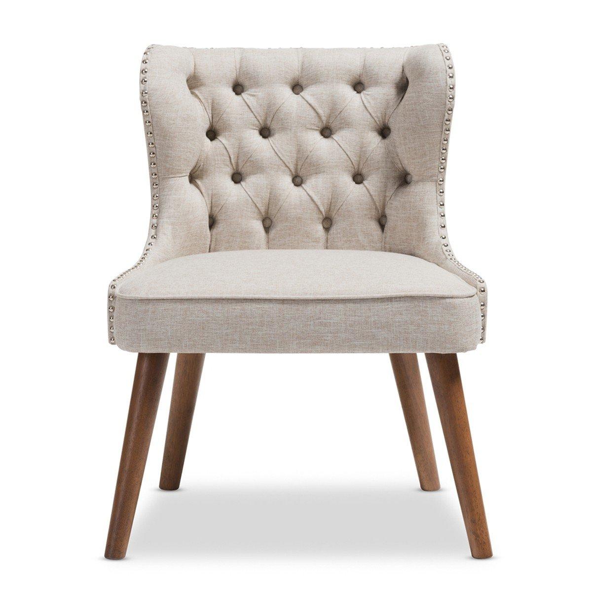 Fashionable Baxton Studio Scarlett 3pc Upholstered Living Room Set In Regarding Scarlett Beige Sofas (View 1 of 20)
