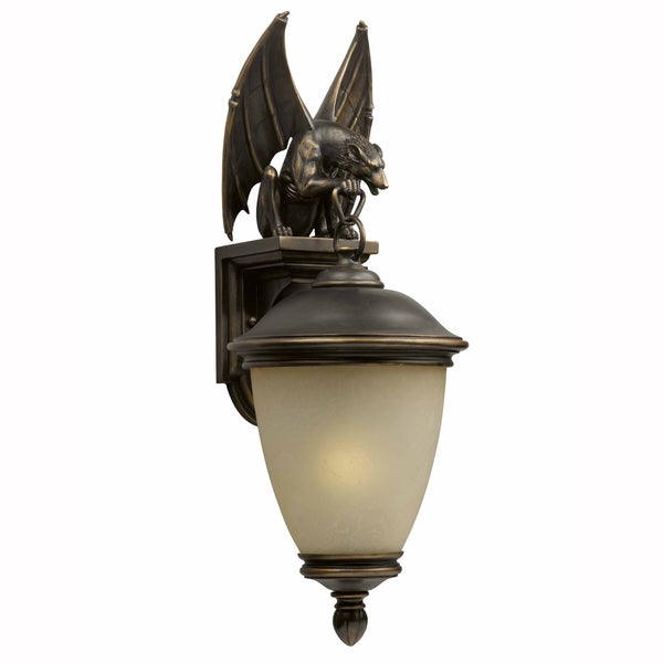 Fashionable Brierly Oil Rubbed Bronze/black Outdoor Wall Lanterns With Gargoyle 1 Light Oil Rubbed Bronze Outdoor Wall Light (View 12 of 20)