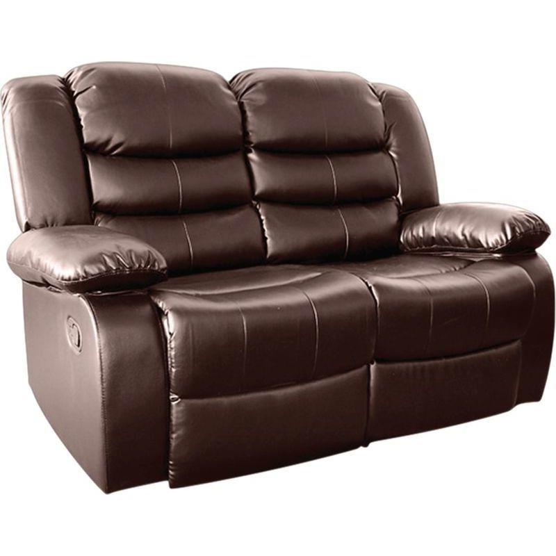 Fashionable Brown Bonded Leather 2 Seater Recliner Lounge Chair (View 19 of 20)