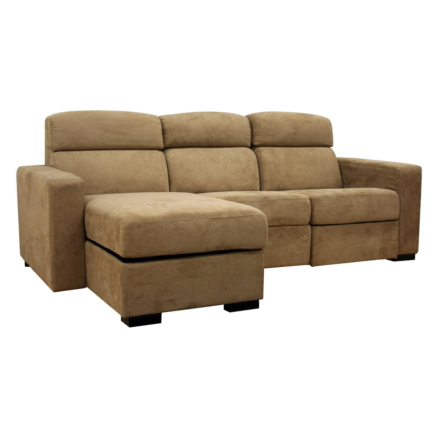 Fashionable Copenhagen Reclining Sectional Sofas With Right Storage Chaise In Holcomb Tan Microfiber Storage Chaise And Reclining (View 6 of 20)