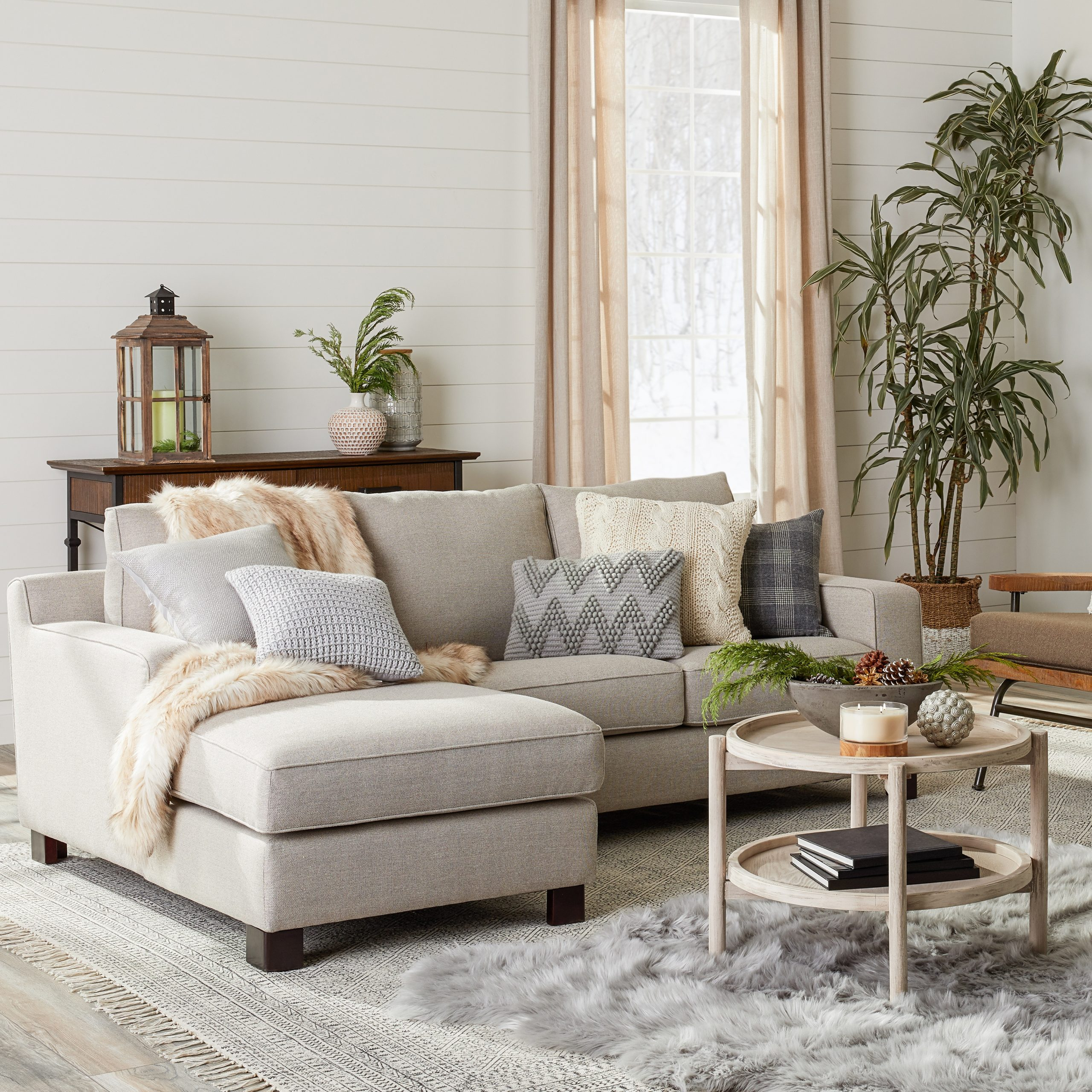 Fashionable Gray Tweed Sectional Sofa Dante Sectional Sofa With Chaise Within 2pc Crowningshield Contemporary Chaise Sofas Light Gray (View 11 of 20)