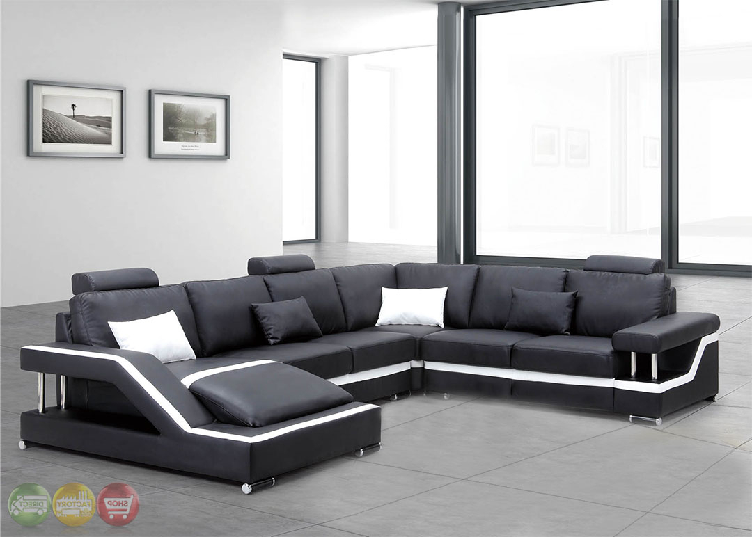 Fashionable Irma Ultra Modern Medium Wood Sectional Sofa Set With Intended For 3pc Ledgemere Modern Sectional Sofas (View 14 of 20)