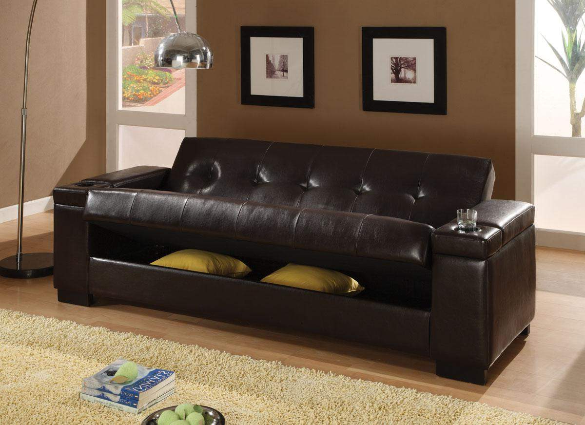 Fashionable Liberty Sectional Futon Sofas With Storage With Regard To Sofa Beds Faux Leather Convertible Sofa Sleeper With (View 17 of 20)