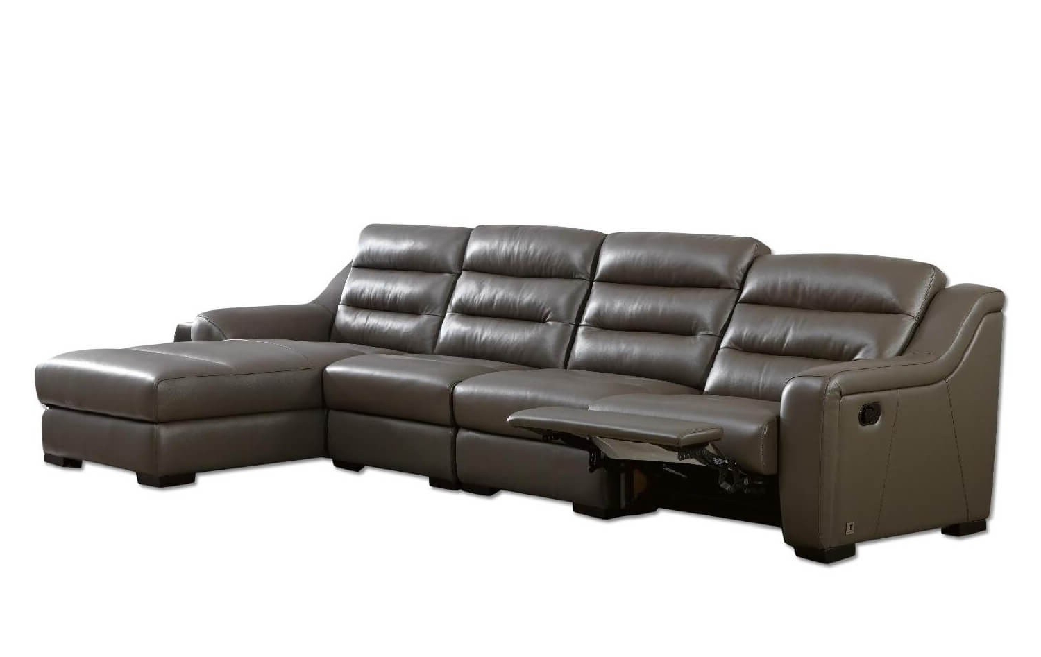 Fashionable Ludlow Top Grain Leather Match Reclining Sectional, Right Pertaining To Copenhagen Reclining Sectional Sofas With Right Storage Chaise (View 20 of 20)
