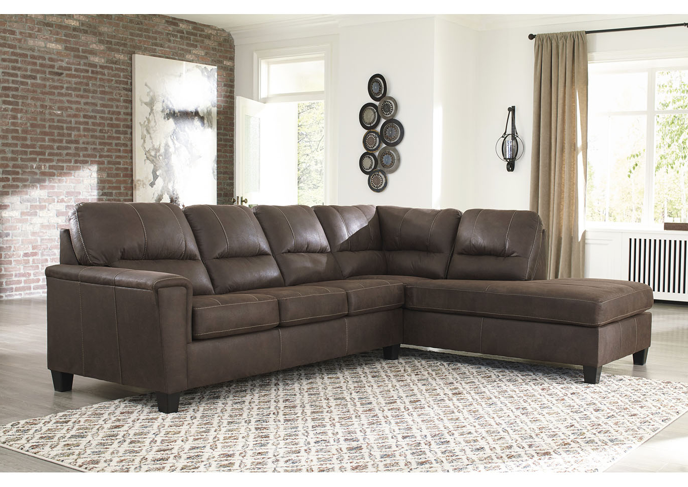 Fashionable Navi Chestnut Left Arm Facing Sofa Chaise All Brands Regarding 2pc Maddox Left Arm Facing Sectional Sofas With Chaise Brown (View 2 of 20)