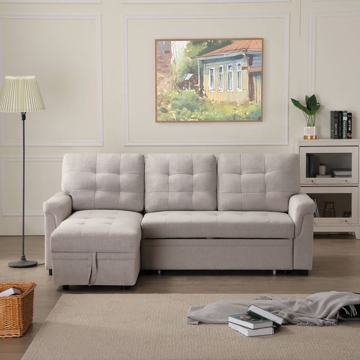 Fashionable Palisades Reversible Small Space Sectional Sofas With Storage For Urhomepro Sectional Sofa Sleeper With Reversible Chaise (View 20 of 20)