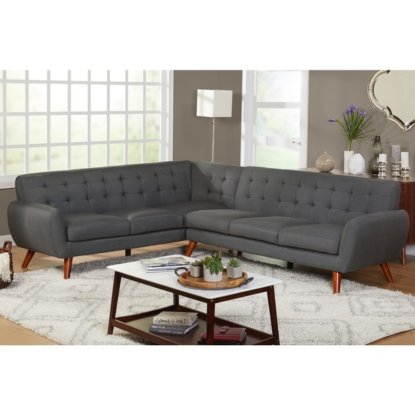 Fashionable Simple Living Livingston Mid Century Tufted L Shaped Within Owego L Shaped Sectional Sofas (View 19 of 20)
