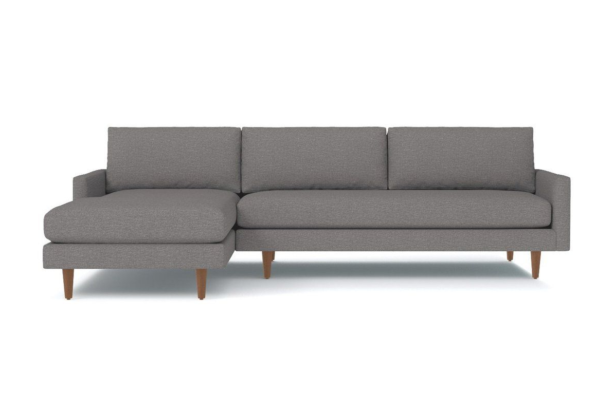 Favorite 2pc Burland Contemporary Chaise Sectional Sofas With Regard To Scott 2pc Sectional Sofa :: Leg Finish: Pecan (View 14 of 20)