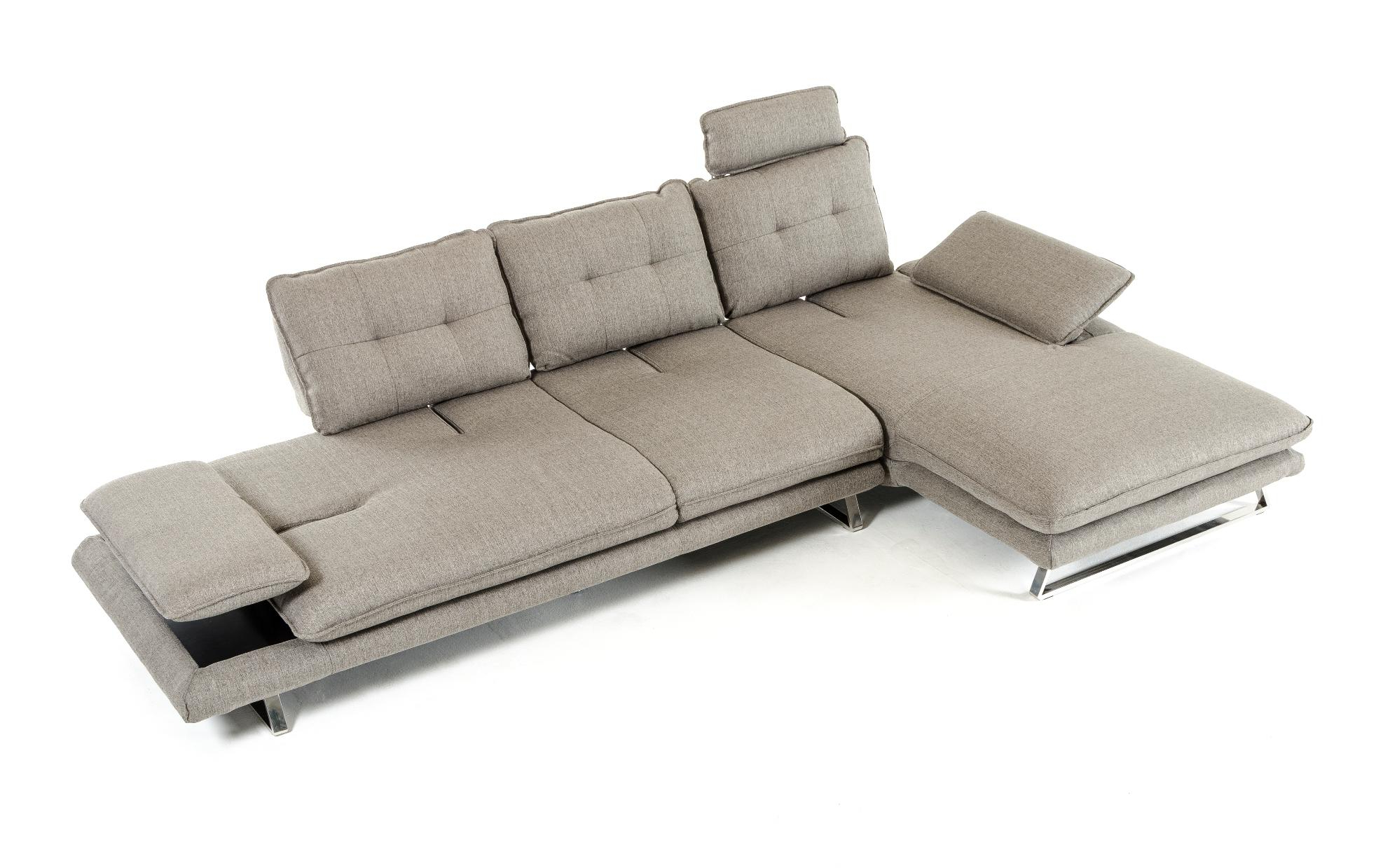 Favorite 2pc Connel Modern Chaise Sectional Sofas Black Inside Grey Fabric Tufted Sectional Sofa Vig Divani Casa Porter (View 15 of 20)