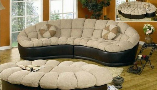 Favorite 4pc Beckett Contemporary Sectional Sofas And Ottoman Sets In Curved Sectional Sofa Round Couch Ottoman Set Modern (View 5 of 20)