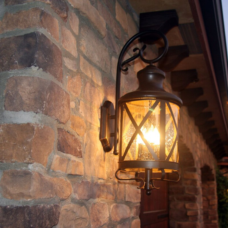 Favorite Castellanos Black Outdoor Wall Lanterns For Three Posts Fairbury Outdoor Wall Lantern & Reviews (View 6 of 20)