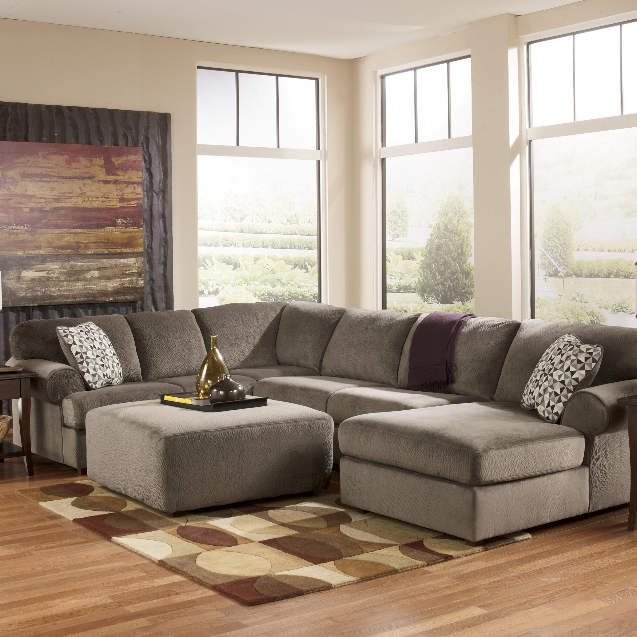 Favorite Casual Sectional Sofa With Left Chaisesignature Design Pertaining To Hannah Left Sectional Sofas (View 20 of 20)