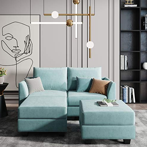 Favorite Copenhagen Reversible Small Space Sectional Sofas With Storage With Honbay Convertible Sectional Couch Modular Sofa With (View 2 of 20)
