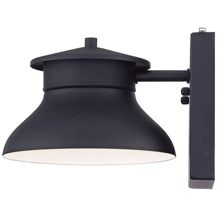"""Favorite Danbury 6"""" High Black Dusk To Dawn Led Outdoor Wall Light With Regard To Gunnora Outdoor Barn Lights With Dusk To Dawn (View 4 of 20)"""