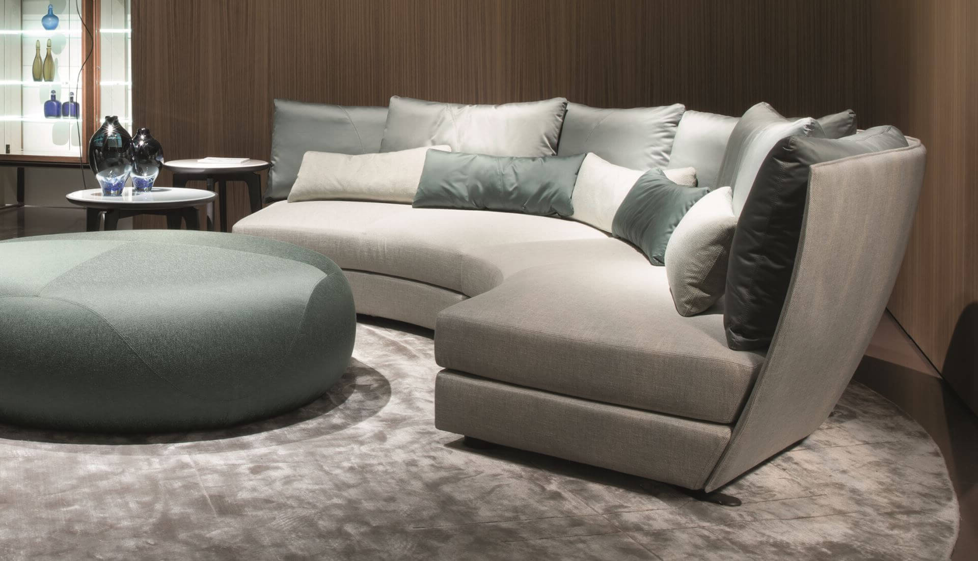 Favorite Giorgetti Dhow Curved Modular Sofa – Dream Design For Dream Navy 2 Piece Modular Sofas (View 1 of 20)
