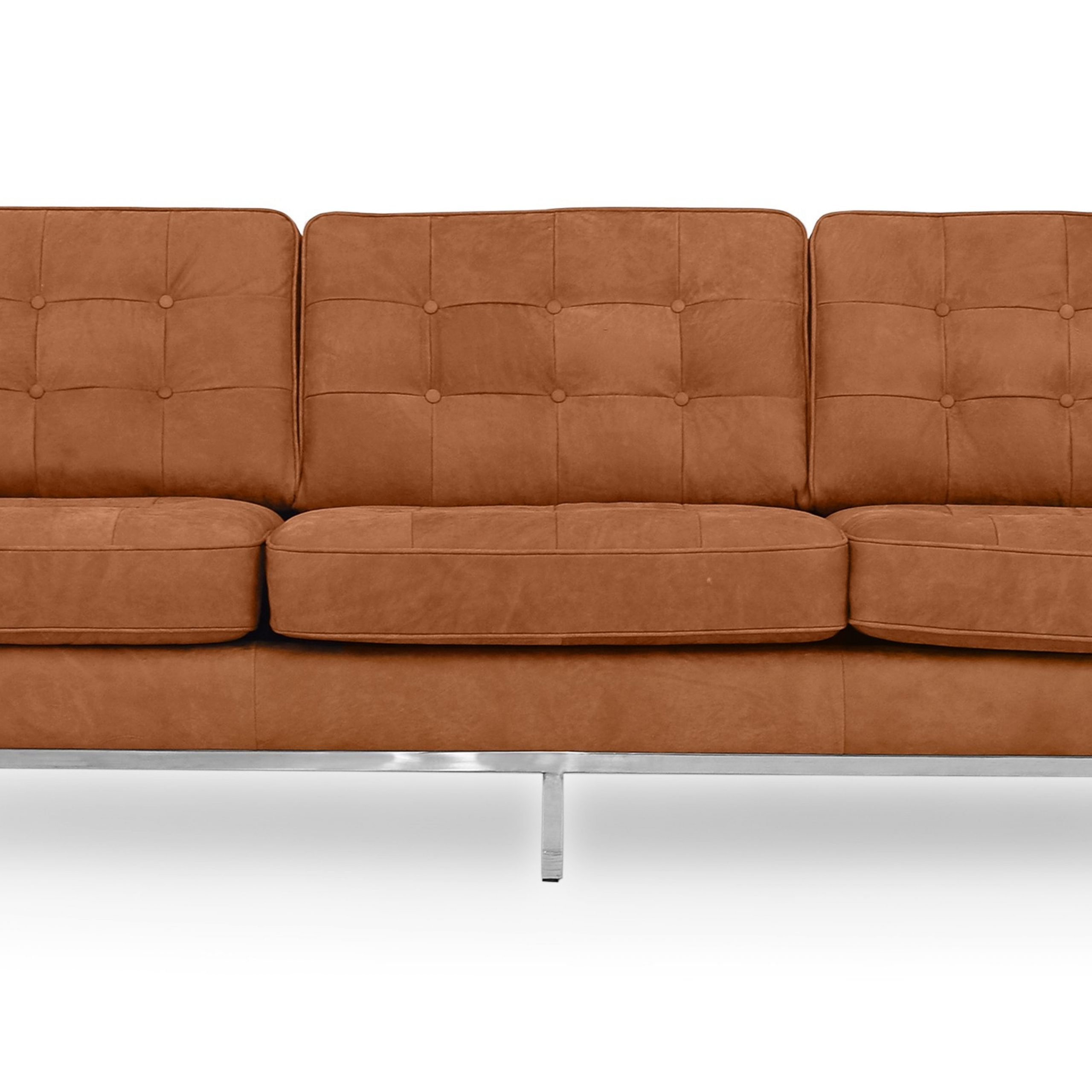 """Favorite Kardiel Florence Mid Century Modern 89"""" Sofa, Cognac Full With Florence Mid Century Modern Right Sectional Sofas (View 1 of 20)"""