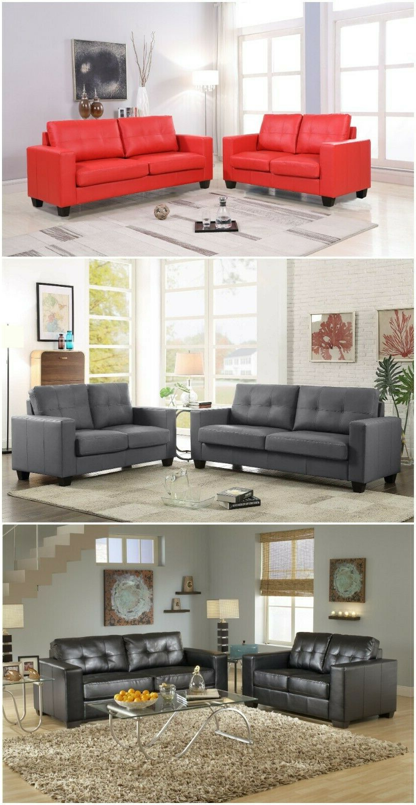 Favorite Navigator Manual Reclining Sofas With Regard To Pu Leather Living Room Sets – Dlivingrooms (View 13 of 20)
