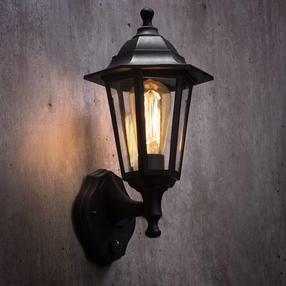 Favorite Neri Outdoor Polycarbonate Wall Lantern With Pir – Black Within Brookland Outdoor Wall Lanterns (View 3 of 20)