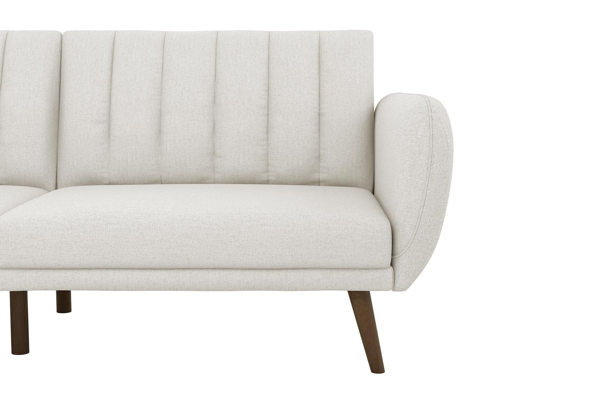 Favorite Novogratz Brittany Sofa Futon Premium Linen Upholstery And For Brittany Sectional Futon Sofas (View 18 of 20)