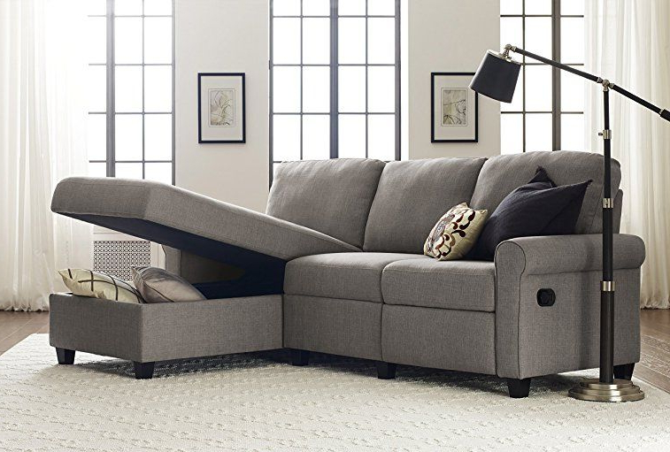 Favorite Palisades Reclining Sectional Sofas With Left Storage Chaise With Regard To Amazon: Serta Copenhagen Reclining Sectional With (View 12 of 20)