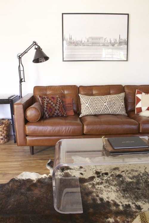 Favorite Pin On Southwest Mid Century Intended For Florence Mid Century Modern Right Sectional Sofas Cognac Tan (View 7 of 20)