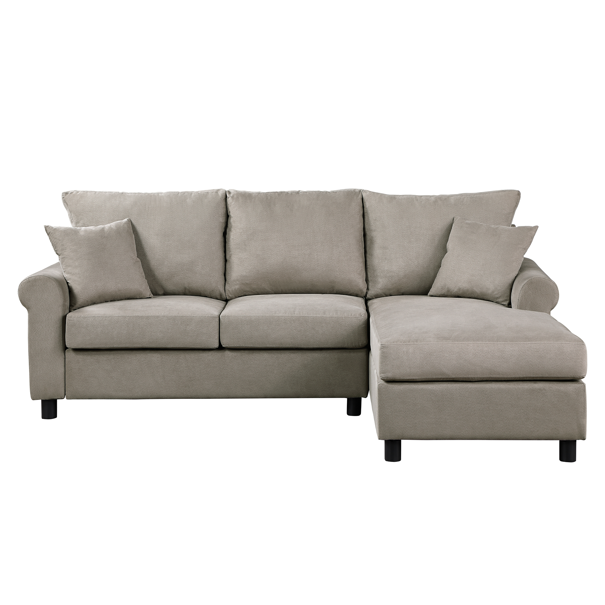 Favorite Sectional Sofa, Segmart 35'' X 85'' X 61'' Tufted With Regard To Verona Mid Century Reversible Sectional Sofas (View 8 of 20)