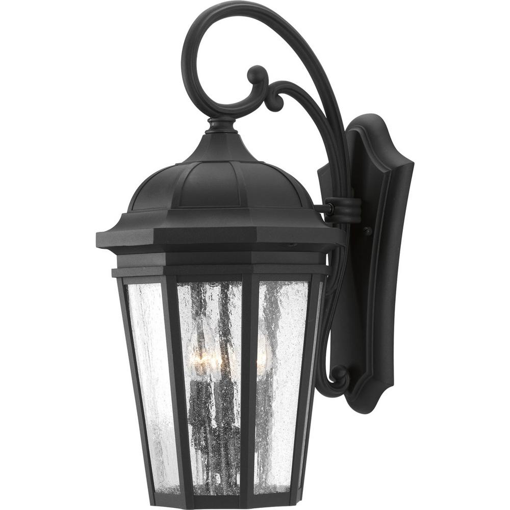 Favorite Socorro Black Outdoor Wall Lanterns Regarding Progress Lighting Verdae Collection 3 Light  (View 9 of 20)