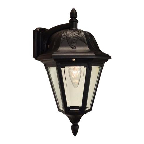 Feuerstein Black 16'' H Outdoor Wall Lanterns Intended For Most Recent Special Lite Floral  (View 3 of 20)