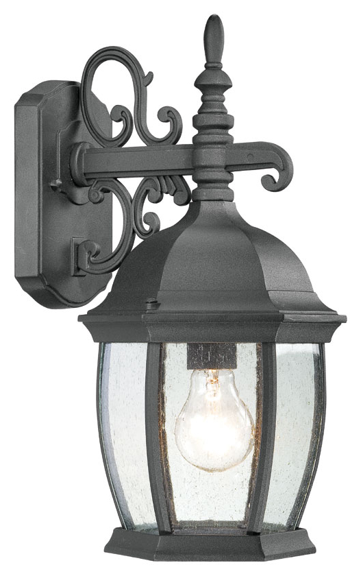 Feuerstein Black 16'' H Outdoor Wall Lanterns Regarding Latest Thomas Lighting Sl92287 Covington Traditional Black Finish (View 12 of 20)