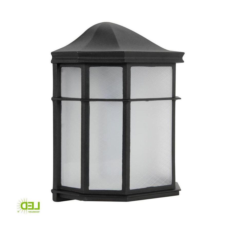 Feuerstein Black 16'' H Outdoor Wall Lanterns Throughout 2018 Black Outdoor Wall Lights At Lowes (View 19 of 20)