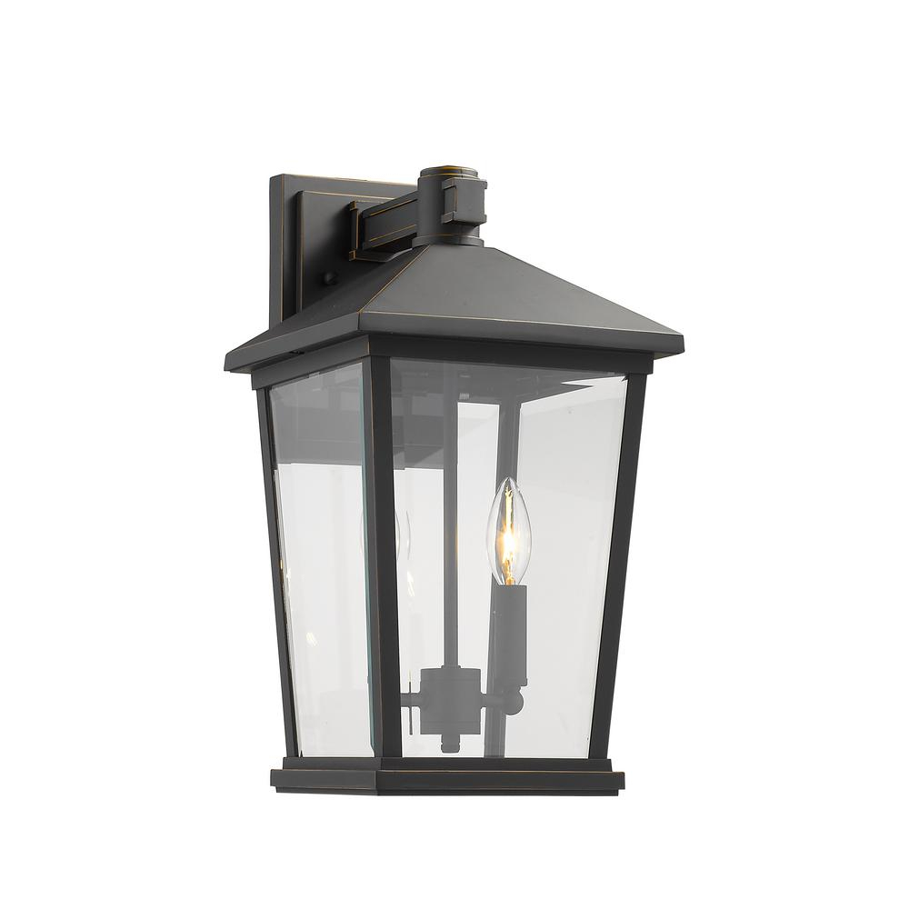 Filament Design 2 Light Oil Rubbed Bronze Outdoor Wall Regarding Famous Verne Oil Rubbed Bronze Beveled Glass Outdoor Wall Lanterns (View 4 of 20)