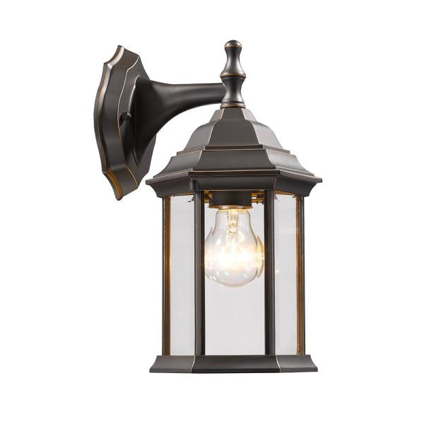 Filament Design Remington 1 Light Oil Rubbed Bronze Intended For Widely Used Faunce Beveled Glass Outdoor Wall Lanterns (View 11 of 20)
